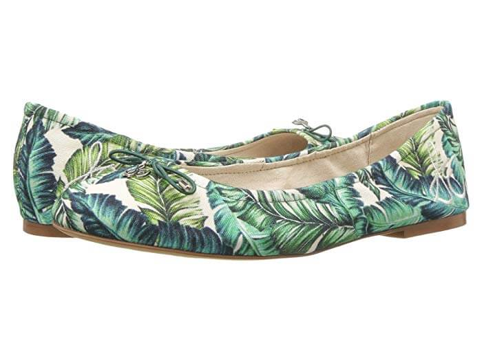 fc10f20529a8 The fun palm print on the Sam Edelman Felicia will make you feel like you re  on vacation even if you re just going on your Tuesday morning coffee run.