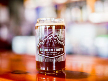 Bear Tooth Brewing - glass with beer on counter